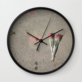Say it with flowers Wall Clock