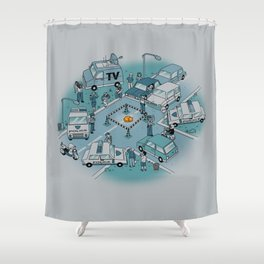 Fluffy Emergency Shower Curtain