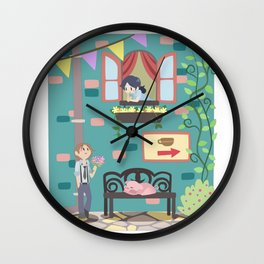 TWAU - Bigby and Snow Wall Clock