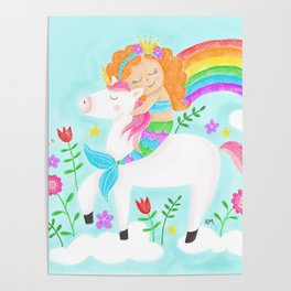 Unicorns, Mermaids & Rainbows...Oh My! Poster