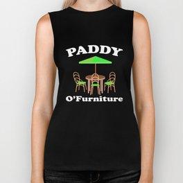 Paddy O'Furniture St Pattys Day Meme Patio Furniture Biker Tank