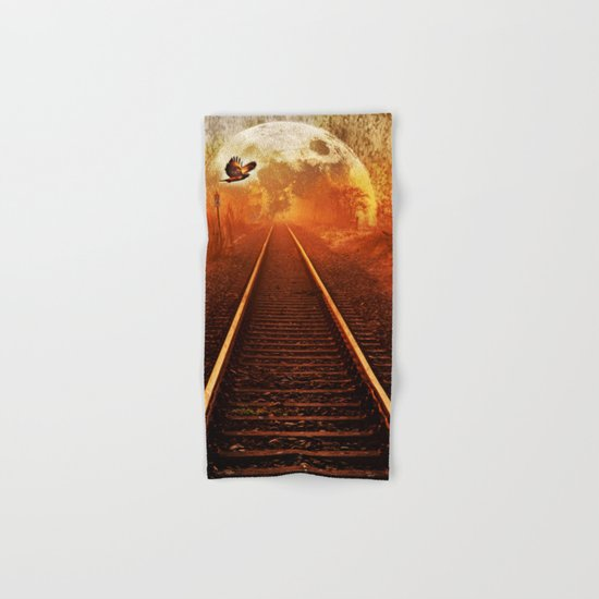 Railway to the moon Hand & Bath Towel