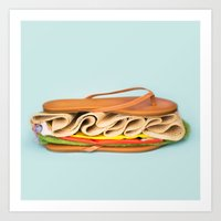 Beach Sand-wich Art Print