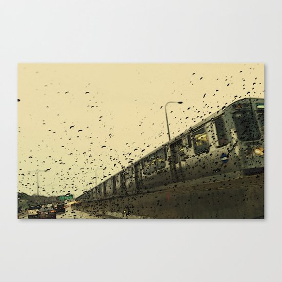 Rainy Day El train #2 Canvas Print