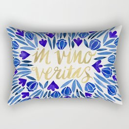 In Wine, There is Truth – Navy & Gold Rectangular Pillow