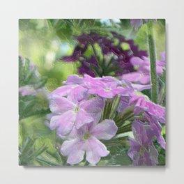 Verbena Floral Print Metal Print