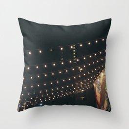 String Lights Throw Pillow