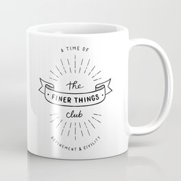 Finer Things Black & White Coffee Mug