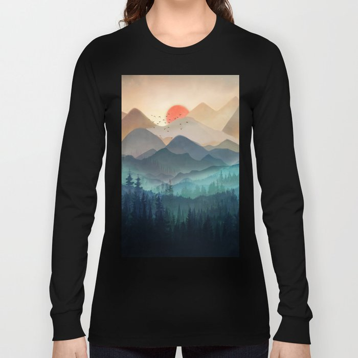Wilderness Becomes Alive at Night Long Sleeve T-shirt