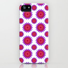 Pink,red and fuchsia color mandala iPhone Case
