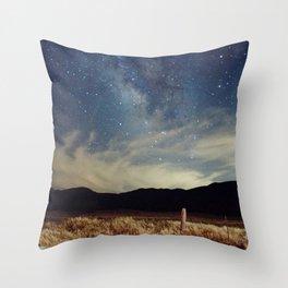 Night Sky Landscape Photography Stars Sky Throw Pillow