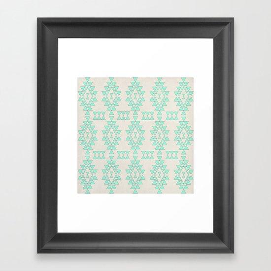 Mint Geo Framed Art Print
