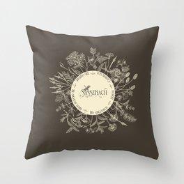 Dear Sassenach in Sepia Throw Pillow