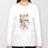 alpaca Long Sleeve T-shirts featuring + Watercolor Alpaca + by BANBAN