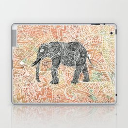Tribal Paisley Elephant Colorful Henna Floral Pattern Laptop & iPad Skin