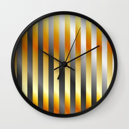 Illustration of a meta steel and gold Wall Clock