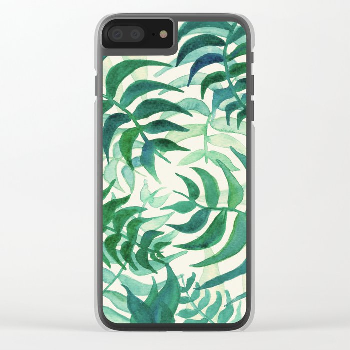 Botanical vibes Clear iPhone Case