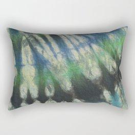 Tie Dye Blue Green 11 Rectangular Pillow