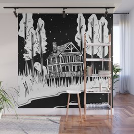 Mysterious Ghost Wall Mural