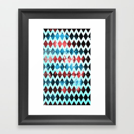 Space Diamonds Framed Art Print