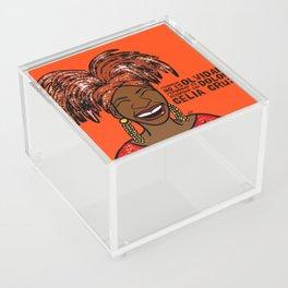 La Reina Celia Cruz Acrylic Box
