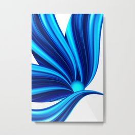 Abstract blue 208 Metal Print