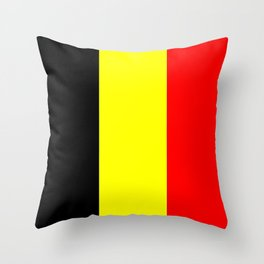 Drapeau Belgique Throw Pillow