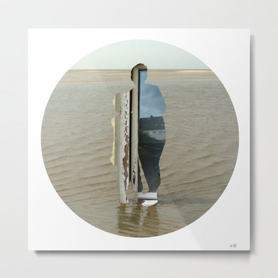 Sea Side Impression - Window Collage Metal Print