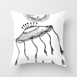 Jelly Moon V.2 Throw Pillow