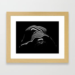 0686-AR BW Contemporary Art Nude Large Woman BBW Graceful and Strong Framed Art Print