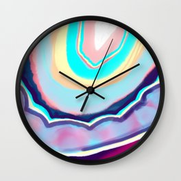 Colorful agate Wall Clock