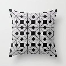 Silver Snow Throw Pillow