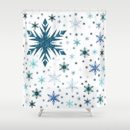 Frosty Abstract Shower Curtain