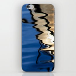 Blue white abstract iPhone Skin
