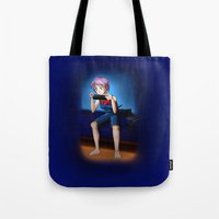 gaming Tote Bags featuring Gaming Time by Rensou