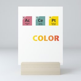Periodic Table Of Accept People Of Color  Mini Art Print