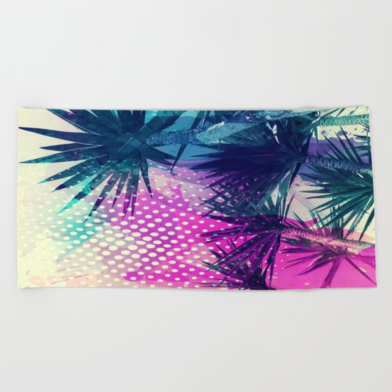 Tropical Explosion Beach Towel