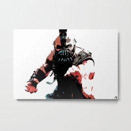 Bane Comic Book Superhero Movie Pop Art Poster Metal Print