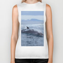 Dolphin: love for waves, love for life Biker Tank