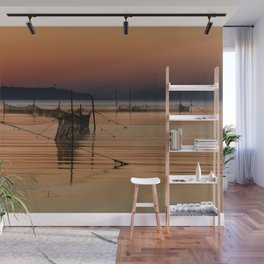 Fishing Nets in the Water Wall Mural