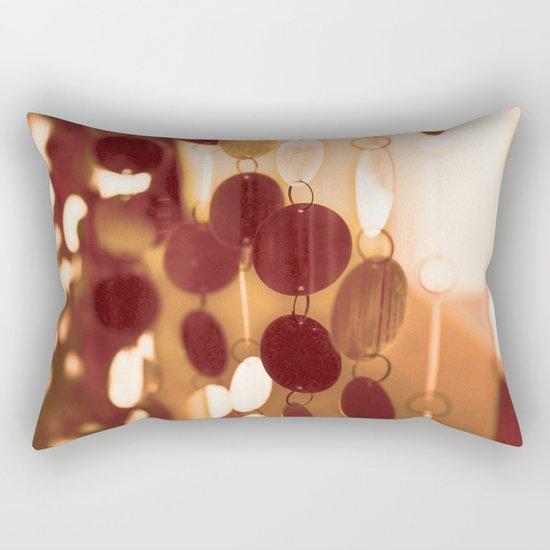 GLAM CIRCLES #Orange #1 Rectangular Pillow