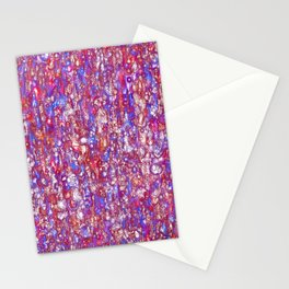 red and blue emerging Stationery Cards