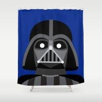darth vader Shower Curtains featuring Darth Vader  by René Martin