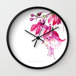 Fuchsia by Teresa Thompson Wall Clock