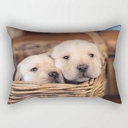 Puppies Labrador Retriever Rectangular Pillow