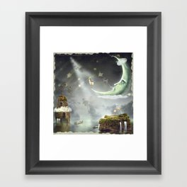 Night. Time of miracles and magic Framed Art Print