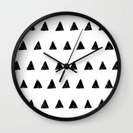Aztec minimal triangles Wall Clock