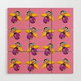 Mexican Angels Hot Pink Wood Wall Art