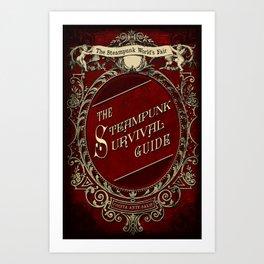 The Steampunk Worlds Fair Faux Surival Guide cover Art Print