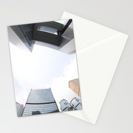 Looking up in Hong Kong (through a fisheye) Stationery Cards